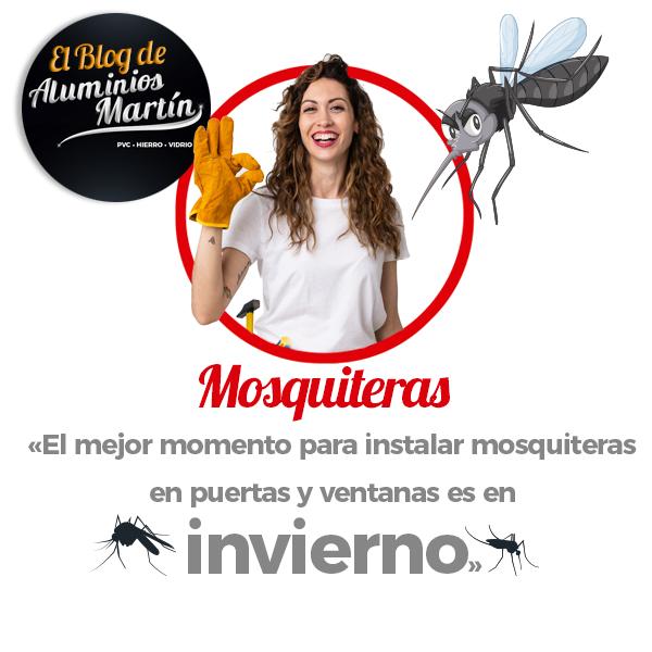Instala tus mosquiteras en invierno