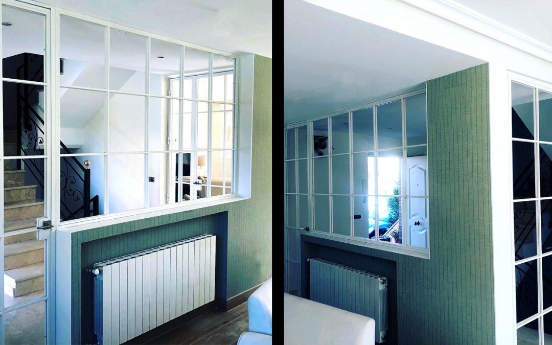 El encanto de las estructuras interiores en blanco